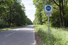 Bike street sign in Berlin. Bike street and road sign in Berlin Stock Photo
