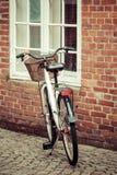Bike in the Streets of ribe,Denmark Stock Photo