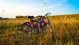Bike style life Stock Image