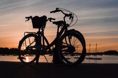 Bike at sunset Royalty Free Stock Photos