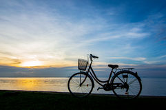 Bike sunset Stock Photo