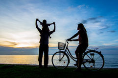 Bike sunset Stock Image