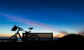 Bike Sunset Sky Stock Photography