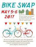 Bike Swap Poster Royalty Free Stock Image