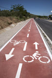 Bike Symbol on Bicycle Lane Royalty Free Stock Images