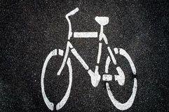 Bike  symbol on the road. Stock Images