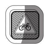 Bike symbol roadsign Stock Photo