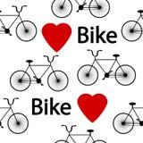 Bike symbol seamless pattern. Royalty Free Stock Image