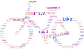 Bike, tag cloud illustration Stock Photo