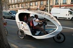 Bike taxi city tour - Quay of Seine river Stock Photography