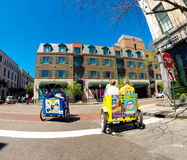 Bike Taxi's on North Market Street, Charleston, SC. Royalty Free Stock Images