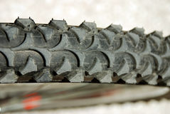 Bike tire closeup detail Stock Photography