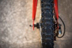 Bike tire stock photography