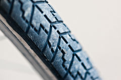 Bike tire over white Royalty Free Stock Photos