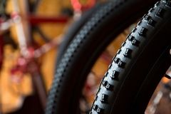 Bike tires Royalty Free Stock Image