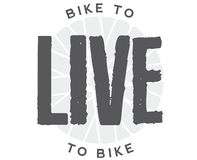 Bike to live. Live to bike. royalty free illustration