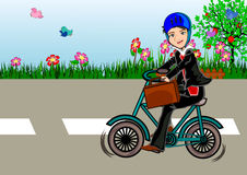 Bike to work Royalty Free Stock Photography