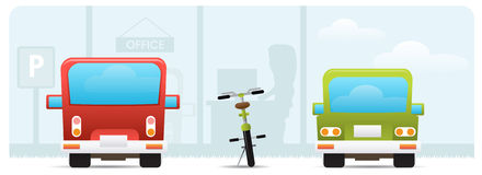 Bike to work concept Royalty Free Stock Photography