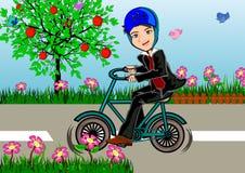 Bike to work concept Stock Photo