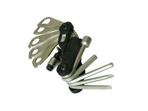 Bike tool. He tools of a bicyclist Royalty Free Stock Photo