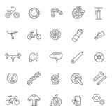 Bike tools and equipment part and accessories vector icon set Royalty Free Stock Image