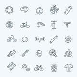 Bike tools and equipment part  icon set. Bike tools and equipment part and accessories vector icon set Stock Photo