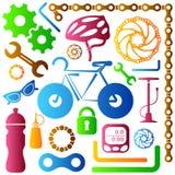 Bike tools icons Royalty Free Stock Photos