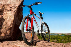 Bike on top Royalty Free Stock Photography