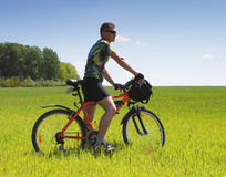 Bike tourist Stock Image