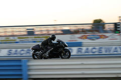 Bike Track Day. Motorcycle at the track stock photography
