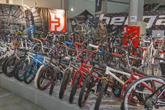 Bike trade show Velobike in Kiev, Ukraine Royalty Free Stock Images