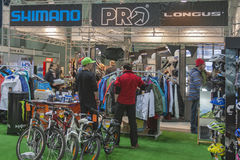 Bike trade show Velobike in Kiev, Ukraine Royalty Free Stock Photos
