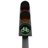 Bike. Traffic light and a bike sign Royalty Free Stock Image