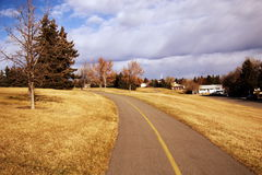 Bike trail in Calgary Royalty Free Stock Photography