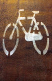 Bike Trail, road markings Stock Photography
