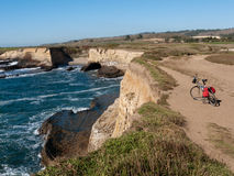 Bike trail at Wilder Ranch on the Pacific Ocean shore Royalty Free Stock Photography
