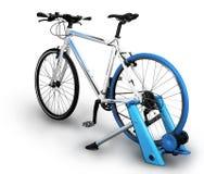 Bike trainer Stock Image