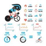 Bike training infographic Royalty Free Stock Photos