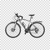 Bike a transparent background. Bicycle silhouette illustration vector art. Royalty Free Stock Photos