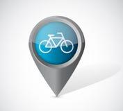 Bike transportation pointer illustration Royalty Free Stock Photo