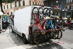 Bike transportation Royalty Free Stock Photography