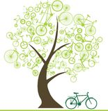Bike of Trees Royalty Free Stock Images