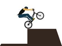 Bike trial jumping Stock Photos