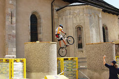 Bike trials Stock Images