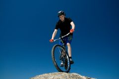 The bike trick Royalty Free Stock Photos