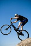 The bike trick Royalty Free Stock Images