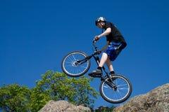 The bike trick stock photos