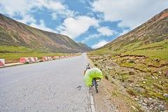 Bike trip to tibet stock image
