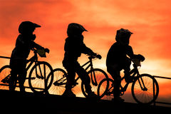 Bike troopers Stock Image
