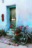 Bike Turquoise. Turquoise bike house stock photo